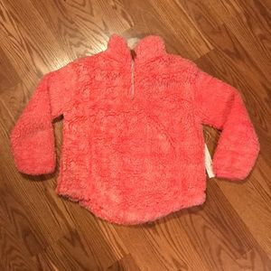 NEW Poof Girl 3/4 Zip Soft & Fuzzy Pullover Sz Med
